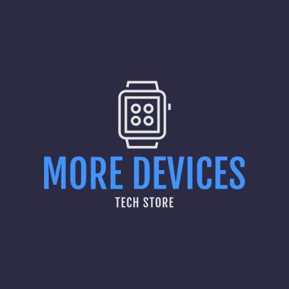 Tech Store Logo Generator Featuring a Smartwatch Clipart 1252g 113-el