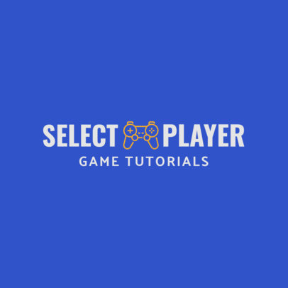 Logo Template for a Game Tutorials Channel 1637h 113-el