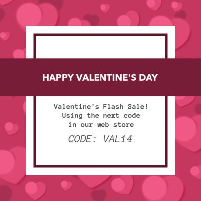 Instagram Post Template for a Valentine's Day Promotion 1956