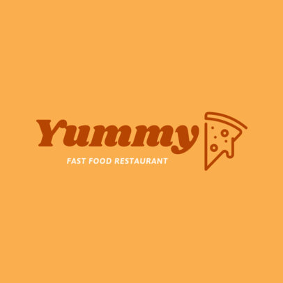 Fast Food Restaurant Logo Template with a Pizza Clipart 1012f-39-el