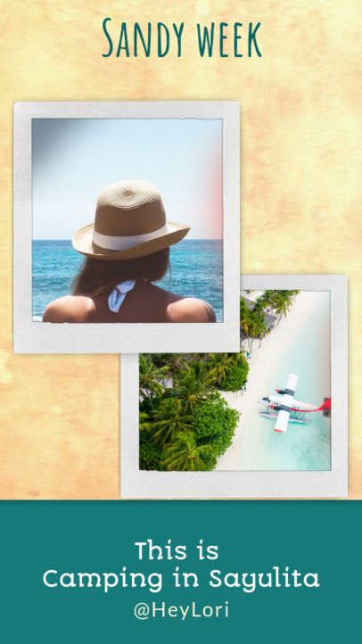 Travel-Themed Instagram Story Maker Featuring Beach Pictures 1951g