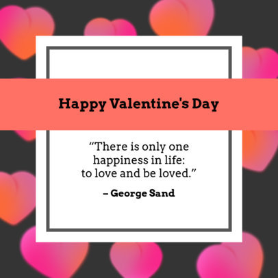 Instagram Post Maker with a Valentine's Day Quote 1956a
