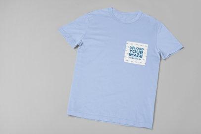 Mockup of a Customizable T-Shirt's Pocket 30084