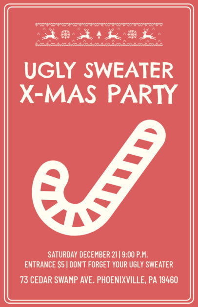 Holiday Flyer Maker for an Ugly Sweater Christmas Party 844f-112-el