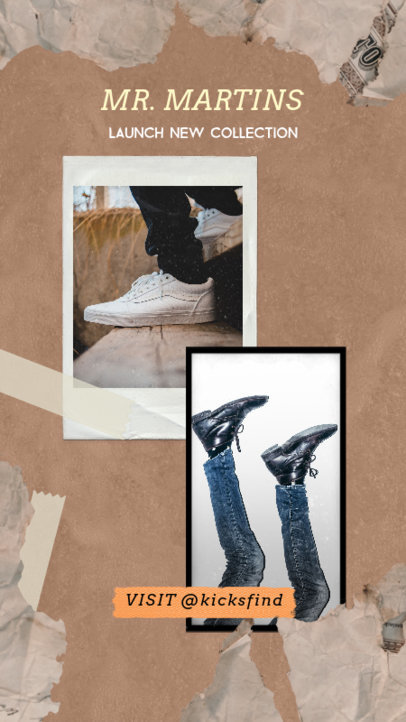 Trendy Instagram Story Template for a New Footwear CollectionTrendy Instagram Story Template for a New Footwear Collection 1950c