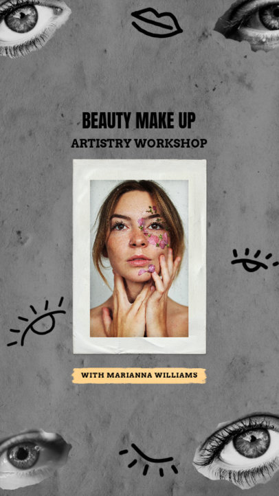 Beauty Instagram Story Creator for a Make Up Workshop 1950d