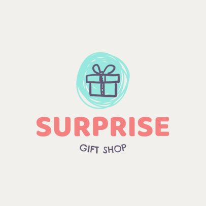 Gift Shop Logo Maker Featuring a Present Clipart 139f 72-el