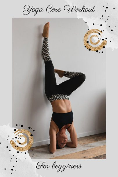 Pinterest Pin Maker with a Sporty-Yoga Theme 1901j-1977