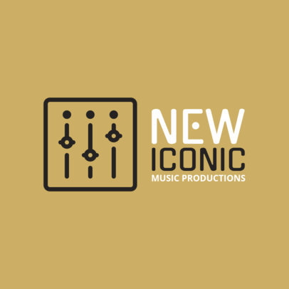 Minimalist Logo Maker for Music Producers 1184k 127-el