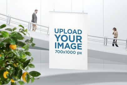 Poster Mockup Hanging by a Staircase 906-el