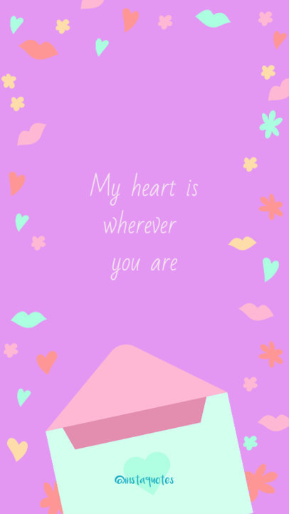 Valentine's Day Instagram Story Generator with a Romantic Quote 609h 1955