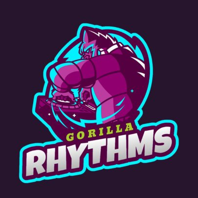 Online Logo Maker for DJs with a Gorilla Clipart 2656f-2658