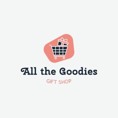 Online Logo Generator for Gift Stores Featuring a Shopping Cart Clipart 139g 126-el