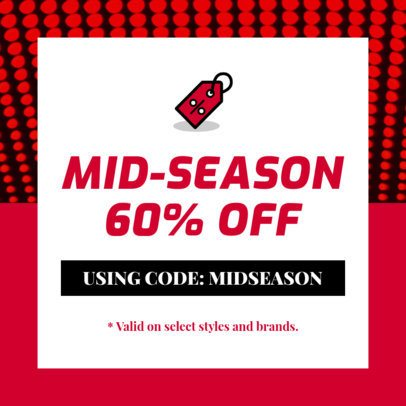 Coupon Design Generator for a Mid-Season Sale 1030j 61-el
