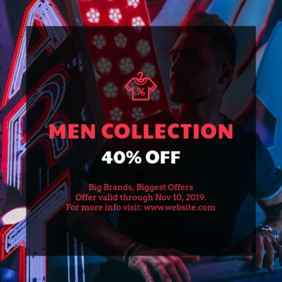 Coupon Generator for a Sale of Men's Apparel 1015f 61-el