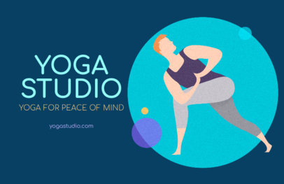 Flyer Maker for a Yoga Studio Featuring a Stretching Man Graphic 1978c