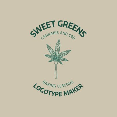Logo Generator for Sweet Cannabis Desserts 2647b