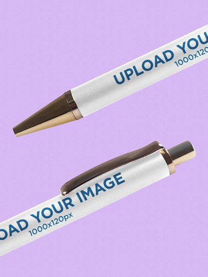 Mockup of Two Pens in Close Up 997-el