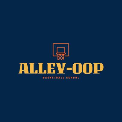 Basketball Logo Maker Featuring a Hoop Graphic 1498f 105-el