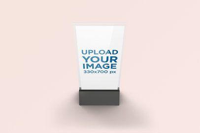 Menu Holder Mockup Featuring a Solid Color Background 994-el