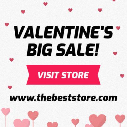 Valentine's Day Online Banner Generator 278h 1958