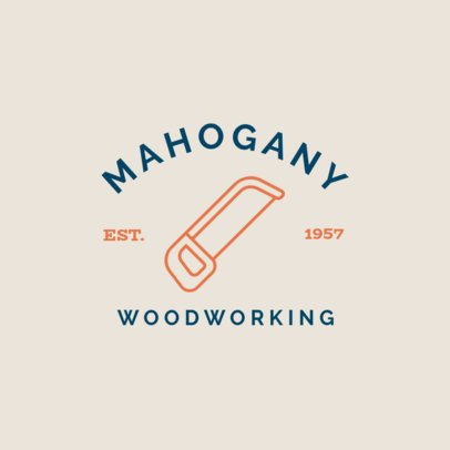 Woodwork Logo Maker Featuring a Saw Graphic 1549f-111-el
