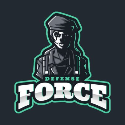 Gaming Logo Maker Featuring a Female Soldier in Reference to Rainbow Six Siege 2653e