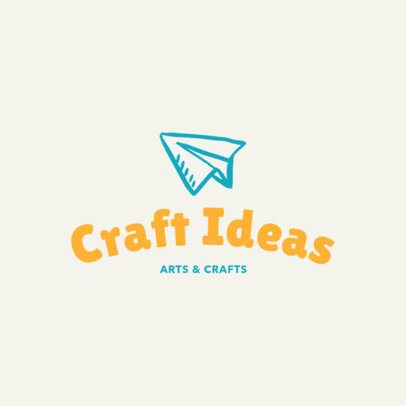 Minimalist Arts and Crafts Logo Template 1402f 37-el