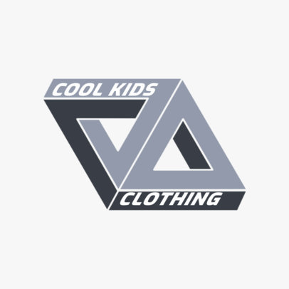 Clothing Brand Logo Maker Featuring a Geometric Illustration Inspired by Palace 2650b