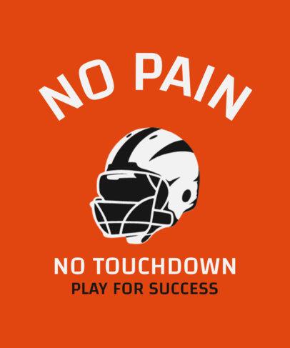 Sports T-Shirt Design Maker Featuring a Football Helmet Graphic 1973a