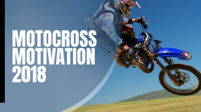 YouTube Thumbnail Design Maker for a Motocross Motivation Vlog 899d