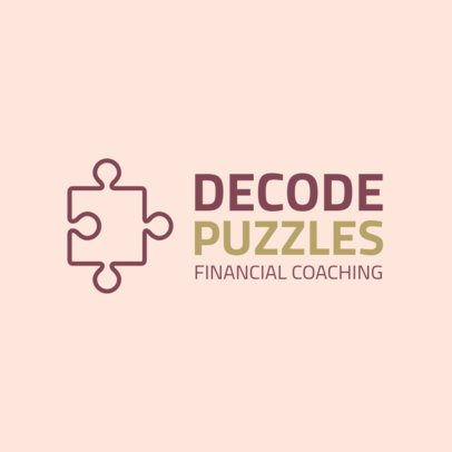Online Logo Generator for a Financial Coaching  2551i 124-el