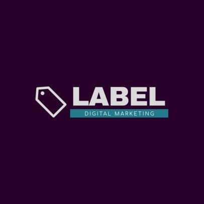 Digital Marketing Logo Creator with a Minimalist Graphic 2229j 124-el