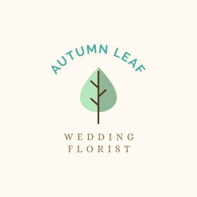 Minimalist Logo Maker for a Wedding Florist 1243h 131-el