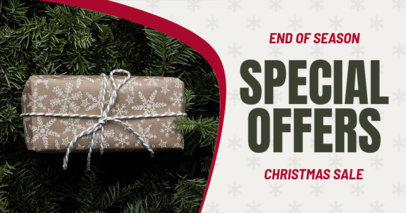 Christmas-Themed Facebook Ad Generator for an End of Season Sale