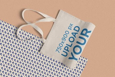 Minimal Mockup Featuring a Folded Tote Bag 1058-el