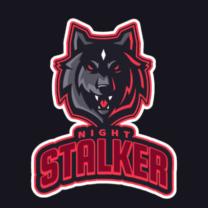 Gaming Logo Maker with a Nocturnal Wolf Graphic 2695k 2684