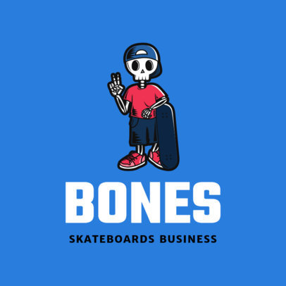 Clothing Brand Logo Creator Featuring a Skater Skeleton Clipart 2598e
