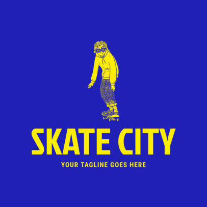 Logo Creator for a Skate Clothing Brand Featuring a Cool Drawing 2598h