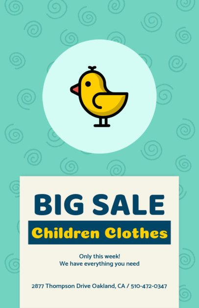 Flyer Design Template for a Sale on Children Clothes 502f 140-el