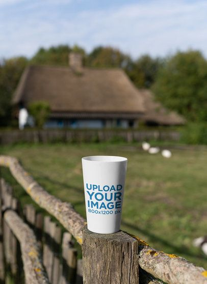 Mockup of a Reusable Cup in a Rural Environment 30563