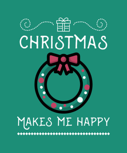 Festive T-Shirt Design Template with X-Mas Graphics 7c-el