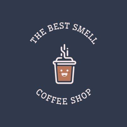 Coffee Shop Online Logo Generator Featuring a Happy Coffee Cup Clipart 950g 165-el