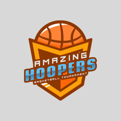 Sports Logo Template for a Basketball Tournament