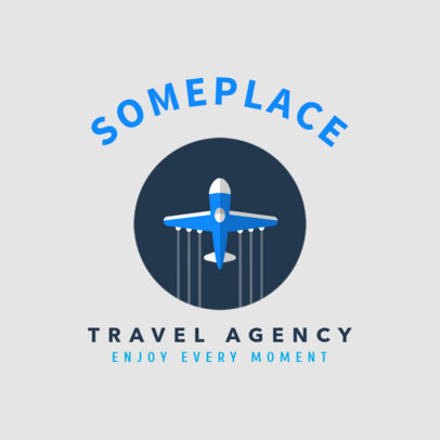 Minimal Travel Agency Logo Maker with an Airplane Graphic