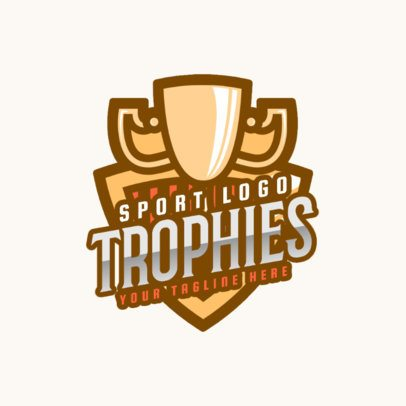Sports Logo Template Featuring a Trophy Graphic 2703g