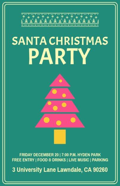 Online Flyer Maker for a Children Christmas Party 844h 159-el