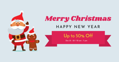 Online Banner Maker for a Christmas Discount Ad 23-el