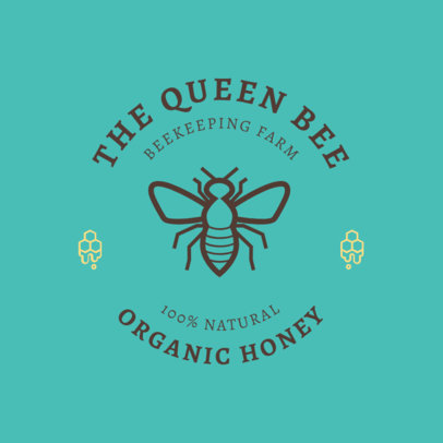 Organic Honey Brand Logo Generator 1287j 171-el
