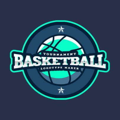 Online Logo Maker for a Basketball Tournament